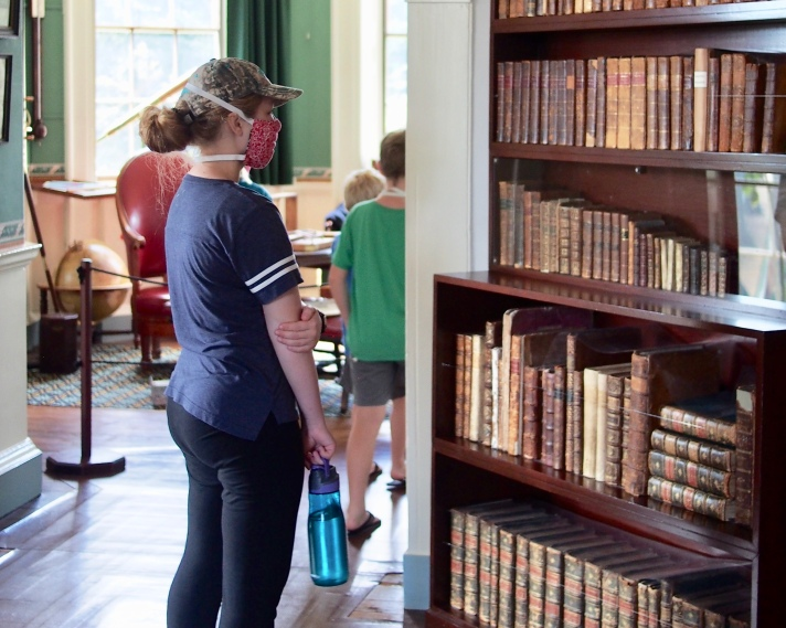 Admiring Some of Jefferson's Extensive Book Collection