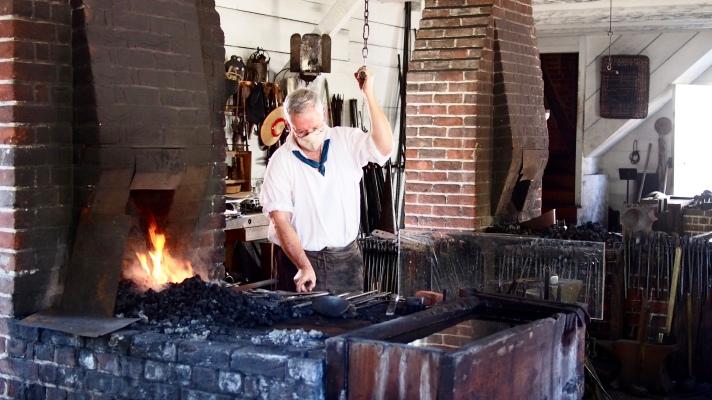 Blacksmith Making Tools