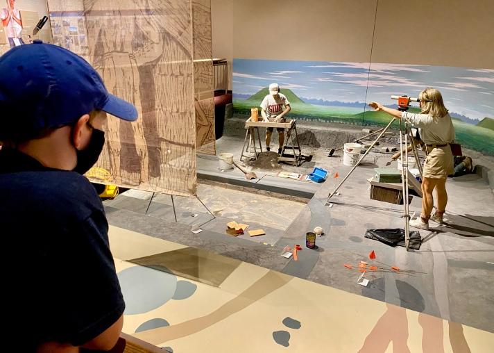 Archeological Dig Replica at the Cahokia Mounds Interpretive Center